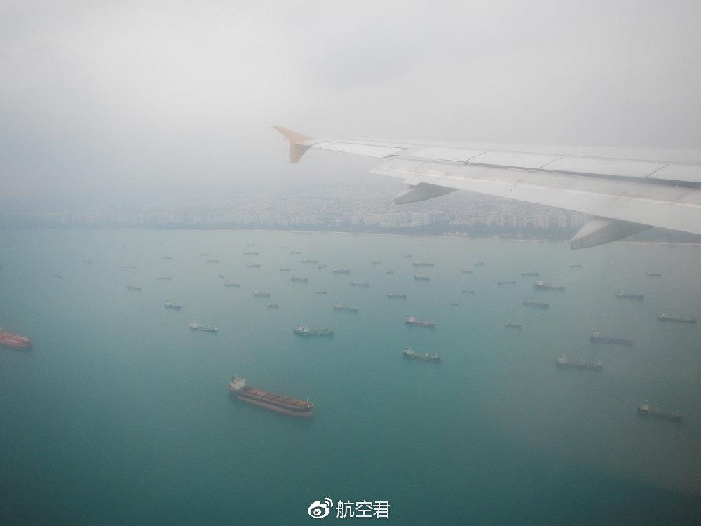 繁忙的马六甲海峡